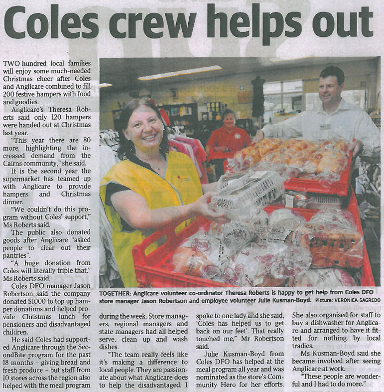 The Coles Crew Helps Out